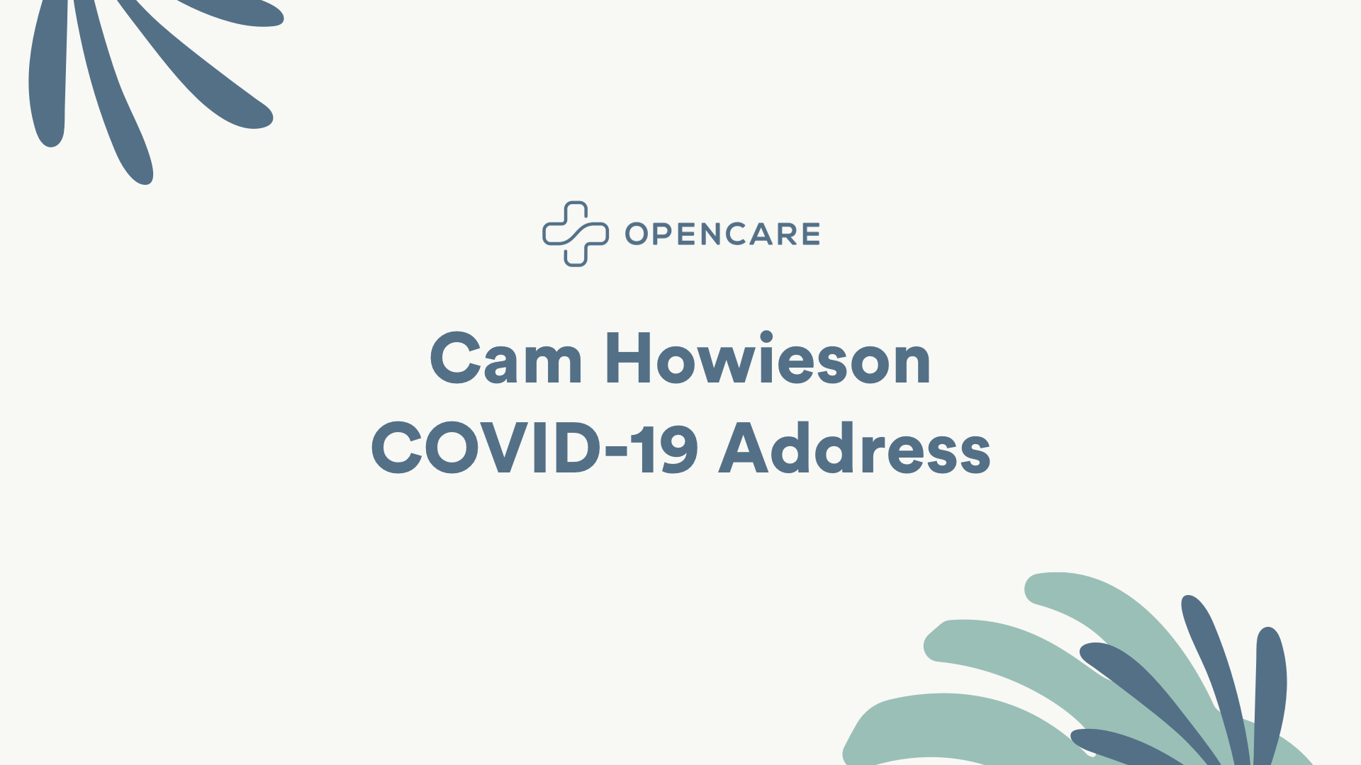 CEO of Opencare Cam Howieson