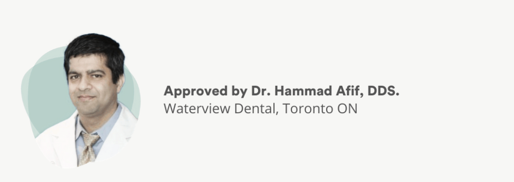 Dr. Afif, DDS approves the information presented here